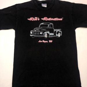 Rick's Restoration Men's Black T-Shirt
